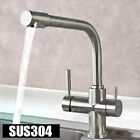304 Stainless Steel Kitchen Sink Faucet Mixer Tap with Pure Drinking Water Spout