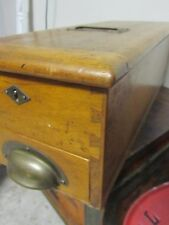 Antique Cash Drawer Till Primitive Mercantile Register Tape Bell General Store