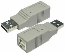 USB 2.0 Coupler USB A Male Plug to B Type Female socket Printer Cable adapter