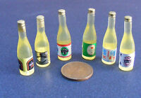 1:12 Scale 6 Assorted Beer Bottles Dolls House Miniature Pub - Bar Accessory