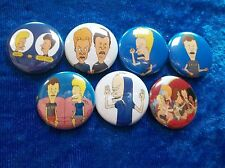 """1"""" pinback button set inspired by 90's cartoon Beavis and Butthead"""