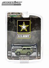 GREENLIGHT 1:64 SCALE DIECAST US ARMY LIGHT GREEN 2014 JEEP WRANGLER HARD TOP