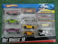 Hot Wheels 10 Car Ex.Multi - Pak 2008 Hotwheels Decoration – NIB (#INVRMG5)