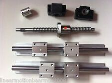 16mm CNC ballscrew RM1605-300mm+BKBF12 end bearing+1 set SBR16 linear slide rail