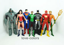 Set 7 Justice League Superman Batman Flash Aquaman DC Universe action Figures