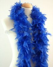 """45g 52"""" long Royal Blue chandelle feather boa, diva night, dress up, dancing New"""