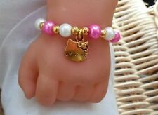 BABY GIRL OR BOY HANDMADE CHARM BRACELETS MANY DESIGNS & COLOURS