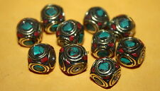 Tibetan beads Coral Beads Turquoise beads Coral 10 Nepalese Beads BDS807