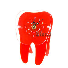 Desk Table Clock Time Tooth Dental Clinic Home Office Kid Smile Cute Gift