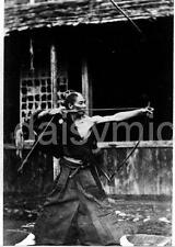 Japanese Archer 1868 Bow & Arrow Samurai ? Japan 7x5 Inch Reprint Photograph
