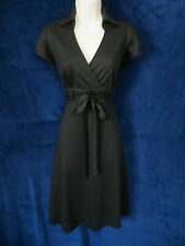 Robbie Bee Rockabilly Black Diamond Knit Greaser Diner Gal Swing Belted Dress 6