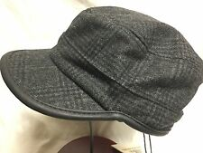 STETSON MILITARY CAP CADET HAT CHARCOAL / BLACK MEDIUM 7 1/8 57