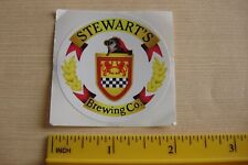 BEER Collectible STICKER ~^~ STEWART'S Brewing Co ~^~ Bear, DELAWARE Breweriana