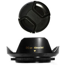49mm Lens Hood Flower Wide Petal Shape with Lens Cap for MINOLTA MAXXUM, NEW USA