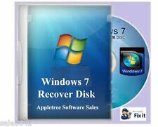 HP Laptop Window 7 ,64 & 32 bit  System Recovery Disk Boot  CD
