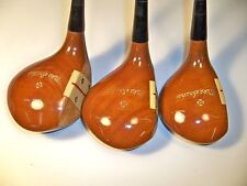 MacGregor Mike Souchak signature 681W Dr, 2, 3  vintage Persimmon RH golf club