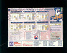 2001-02 Grand Rapids Griffins inaugural AHL season team issued magnet schedule