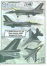 Syhart Decals 1/48 F-16AM FALCON SOLO DISPLAY 2009 Belgian Air Force