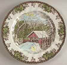 Johnson Brothers THE FRIENDLY VILLAGE Covered Bridge Dinner Plate 5817680