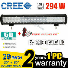 5D 20 INCH 294W CREE LED LIGHT BAR COMBO OFF-ROAD PICKUP DRIVING 4X4WD TRUCK CAR