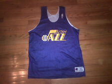Utah Jazz NBA Vintage Authentic Champion Reversible Practice Jersey NWOT Mens XL