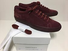 Common Projects Achilles 42 Burgundy Bordeaux Suede US 9