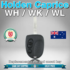 Holden Caprice 3 Button Car Remote - Replacement Case & Uncut Key For VS VT VX