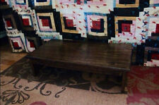 """Handcrafted Heavy Duty Bed Wooden Bedside Step Stool 14"""" extra deep, 24"""" L, 5"""" H"""