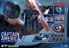 marvel captain america civil war captain america 1/6 hot toys