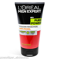 (46,60€/L) 150ml Loreal Men Expert Pure Power Vulkan Waschgel Anti Pickel NEU