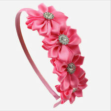1 X Hair Band With Grosgrain Ribbon Flower Hair Band For Kids 6 Colors KEW