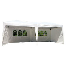 10'X20' EZ POP UP Wedding Tent Party Foldable Gazebo 4 Walls Canopy W/Carry Case