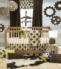 $191 Glenna Jean Urban Cowboy 3pc Crib Bedding Set Sheet Green Brown New