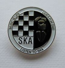 Metal Enamel Pin Badge Brooch SKA Music Is Life Circle Jazz Rythm Blues Reggae