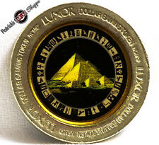 "$1 BRASS SLOT COLOR TOKEN LUXOR CASINO ""PYRAMIDS"" 1995 NCM MINT LAS VEGAS COIN"