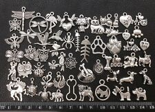 BARGAIN 50pcs Mix Bulk Tibetan Silver Charms Pendants Animal Insect Pet Dog Cat