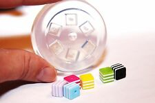 SALE! Clear-silicone beads Molds,6- pc. 8mm.Free USA shipping.(A74)