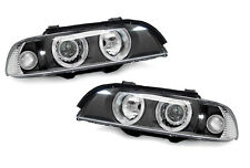 BMW 5 E39 96-00 Angel Eye Black Projector Headlights Lighting Lamp Part Depo