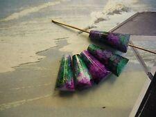 GLASPERLEN – außergewöhnliche TROPFEN lila grün facettiert - ca.16,5 mm (5)