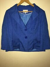 Debenhams Collection Smart Suit Type Jacket Size 18 Blue Lightweight  R6996