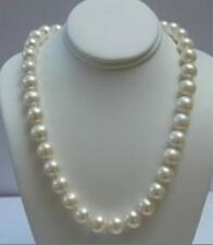 "14K Solid Gold Clasp 10-11MM White Akoya Pearl Necklace 18""AA"