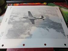 Militaria - 1950 War Plane/Jet Officil ID Sheet OPNAV 32P-1200 - Sea Hawk