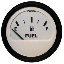 "Faria Euro White 2"" Fuel Level Gauge (E-1/2-F)"