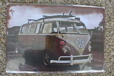 VW Camper Van Tin Metal Sign Painted Poster Club Book  Wall Art Office Garage