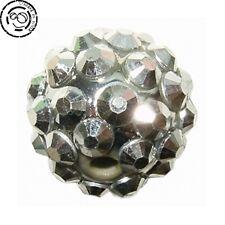 Perles Shamballa 12mm argentées x8