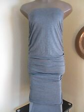 HEART & HIPS GREY KNIT STRETCHY TUBE DRESS SLEEVELESS ELASTIC TOP SIZE MEDIUM