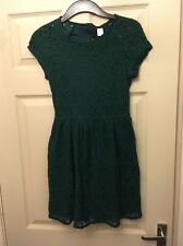 H&M Size 12 Dark Green Lace Dress
