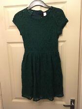 H&m taille 12 vert foncé dentelle robe