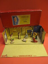 ALL ORIGINAL WEND-AL NATIVITY SET WITH ORIGINAL BOX 1950 QUIRALU