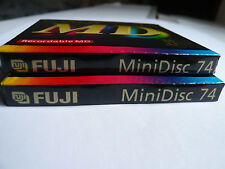 "2x Fuji MD S 74 - Minidisc - Made in Japan - Minidisk  - ""NEU"" - OVP - Sealed"
